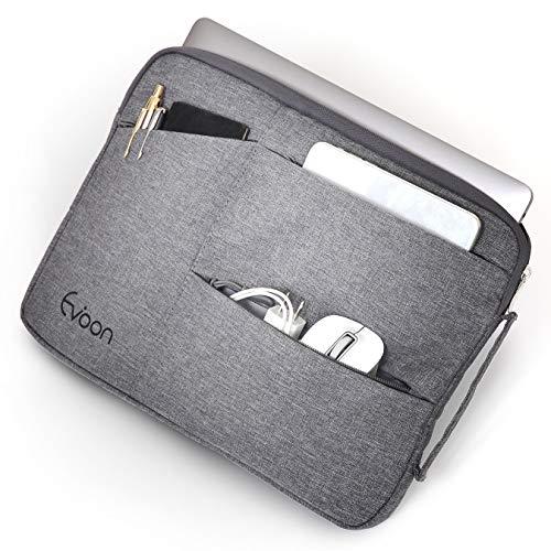Evoon パソコン ケース ノートパソコン ケース 13-13.3インチ 防水/衝撃吸収/多機能 macbook air 13 / MacBook Pro 13 / surface pro/インナーバック PCケース PCバッグ パソコンバッグ (13.3inch グレー)