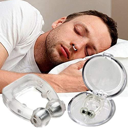 Anti Ronquidos Clip de Nariz de Silicona Parada Magnética Ronquidos Clips de Nariz Dispositivo de Ayuda para Dormir Apnea Anti-ronquidos