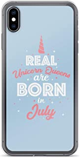 Compatible for iPhone 7 Plus/8 Plus Real Unicorn Queen are Born in July Cute Design Lady Quote