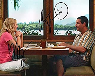 Photo 50 First Dates - Adam Sandler & Drew Barrymore Signed Autographed 8 x 10