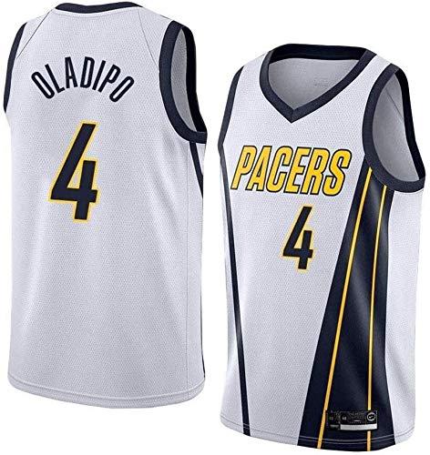 llp Jersey para Hombres - NBA Indiana Pacers # 4 Victor Oladipo Basketball Jersey - Gimnasio Tops de Deportes de Secado rápido Transpirable (Color : White 2, Size : Medium)