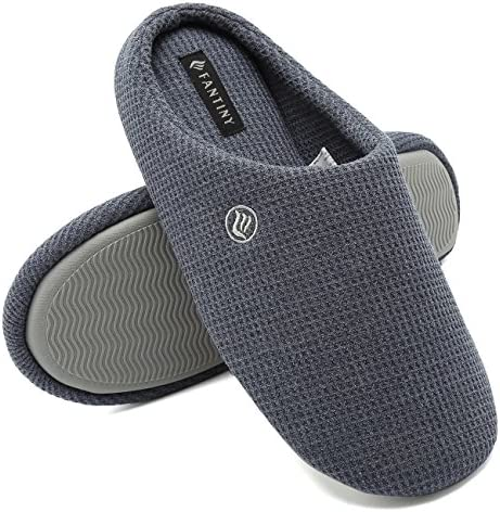 CIOR Fantiny Men s Memory Foam Slippers Comfort Knitted Cotton Blend Closed Toe Non Slip House product image