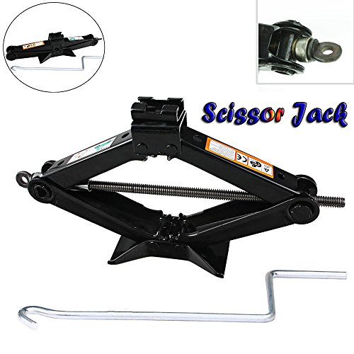 Spare Tire Kit Scissor Jack with Speed Handle 2 Ton Floor Jack Wind Up Lift for Caravans/Honda Jazz/Audi/BMW/Benz/Ford/Toyota/Dodge/Chevy