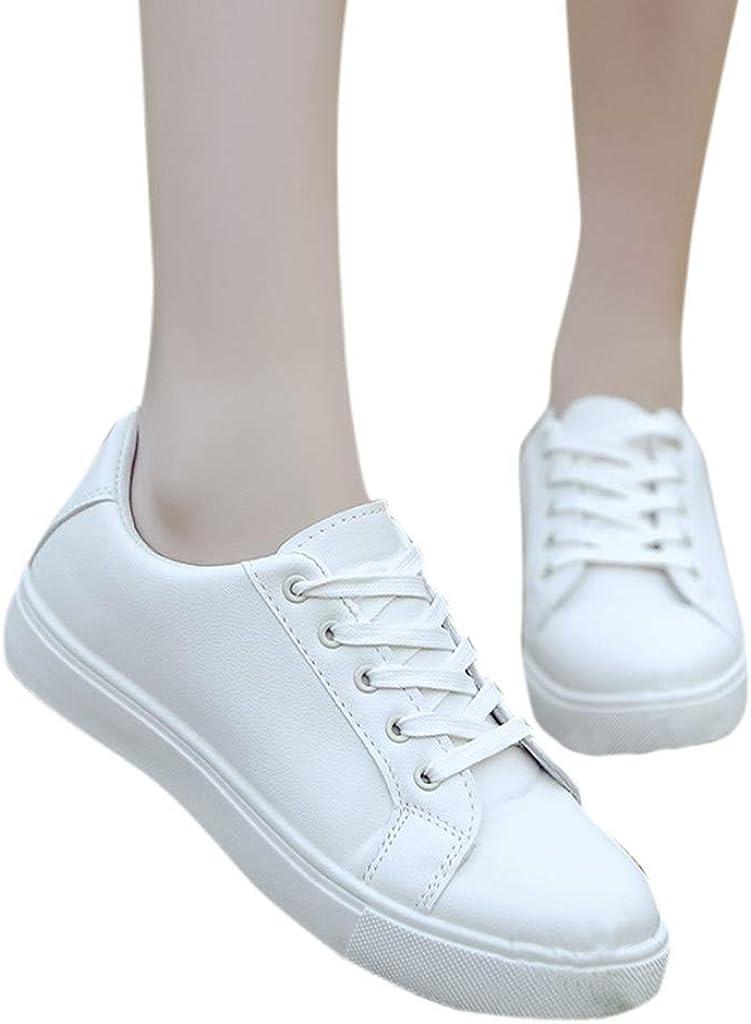 Chaussure Blanche Femme De Sport Running Plates Confort Respirantes L/éG/èRes Sneakers Chaussures /à Lacets pour Tendance Student