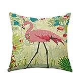 Kentop Kissenbezug, Motiv Flamingo, mit Pflanzen, Sofa,