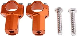 Pair of CNC Handlebar Risers Bar Mount Clamp for Ktm 300 400 500 Orange