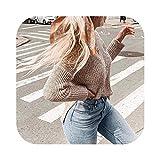 Las Mujeres suéteres Puentes Plus tamaño de Mujeres suéter de Cuello V sólido de Manga Larga Jersey de Punto suéter Irregular Top Tire señoras de la Mujer Invierno 2019 Nuevo, H, Estados Unidos