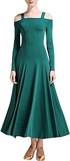 zhbotaolang Latin Dance Rock Frauenkleidung - Kurzarm Kostüm Dame Walzer Flamenco Ballsaal Schule Kleidung