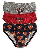 Jujak - Calzoncillos para niños (3 unidades, algodón) Superman - Diseño 2 5-6...