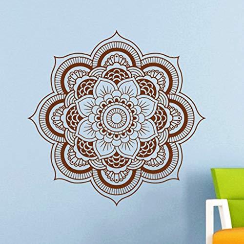Opprxg Adhesivo de Pared Vinilo Adhesivo Artista decoración del hogar Adorno de Mandala Yoga Lotus 57x57cm