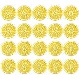 certylu Accesorios de Fiesta, 20 Piezas de simulación de Fruta, limón, aguacates Artificiales, Fruta Falsa, limón, Rebanada
