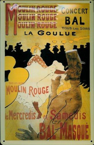 Blechschild Nostalgieschild Mouling Rouge la Goulue Paris