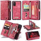 JISHIYU Para Samsung A71, con 11 ranuras para tarjetas de crédito y 3 posiciones de billetera...