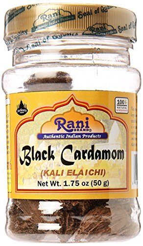 Rani Cardamomo negro Peso neto. 1,75 oz (50 g)