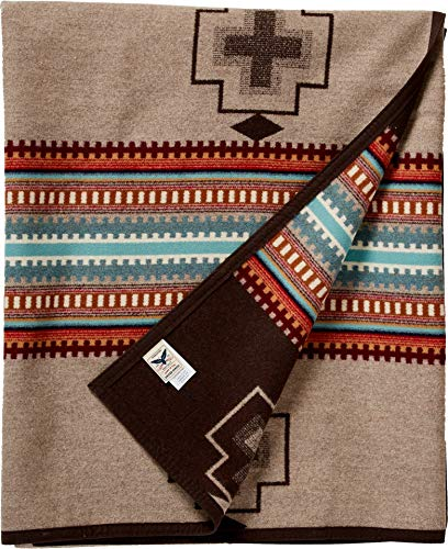 Pendleton Unisex Jacquard Blanket Robe Tan/American West One Size