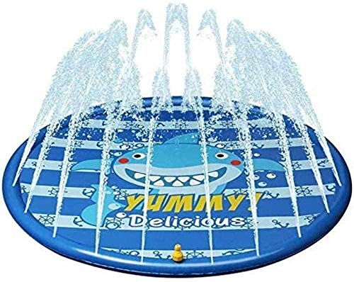 FPRW 170Cm Kids Sprinkler Pad Mat Children Summer Outdoor Water Splash Play Mat Lawn Inflatable Sprinkler Cushion Toy