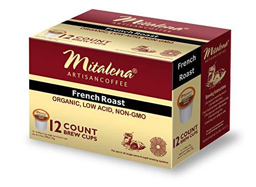 Mitalena Brand - 72 ct. French Roast Organic Arabica Low Acid Coffee Pods