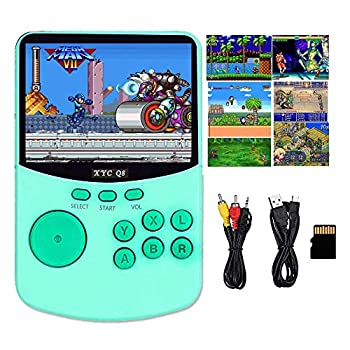 HDStore 2020 New Portable Retro Pocket Video Gaming Console 16bit Game Retro Handheld Video Games Console Support NES SNES MAME MD GBA XYC Q8 Arcade Game - Green Color