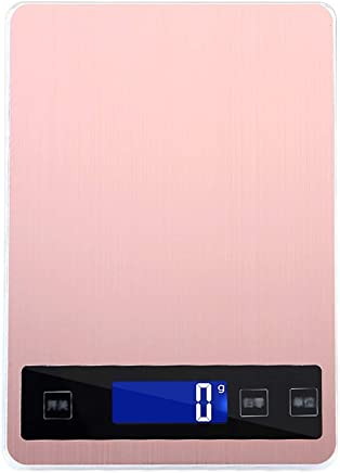 Kitchen Scales - Stainless Steel, Smart Touch Screen, 5 Units, Household Scales Waterproof Food Small Complementary Food Weighing Scales-2 Colors 3 ranges Optional (Color : Pink, Size : 5kg)