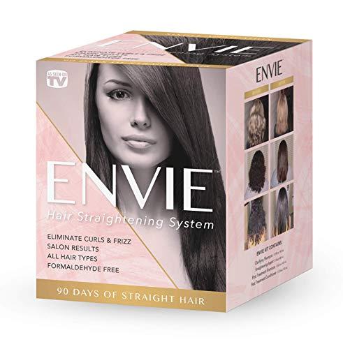 ENVIE Hair Straightening System – Single Application Hair Keratin Treatment – Straightening Hair Treatment for 90 Days of Straight, Frizz-Free Hair – Keratin Complex Smoothing Treatment