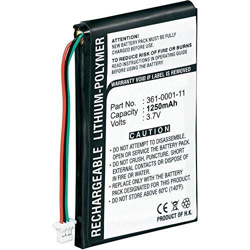 Replacement Battery for Garmin Nuvi 200, Nuvi 200w, Nuvi 205, 205T, Nuvi 205W, Nuvi 250, Nuvi 205WT, Nuvi 255, Nuvi 255T, Nuvi 255W, Nuvi 255WT, Nuvi 252w, Nuvi 260, Nuvi 260w (1250mAh, Li-Polymer)