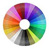 15 Colores/246 Pies(75m) en Total, 16.4 Pies Cada Color: ¡Su opción más conveniente y rentable! 15 colores cuidadosamente seleccionados con suficiente longitud, sin diferencia de color, satisfacen sus diversas necesidades creativas PLA: Un nuevo tipo...
