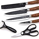 Best Chef Knife Professionals - 6 Pieces Kitchen Knife Set, Non-stick Professional Chef Review