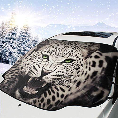 Drew Tours Leopard Car Front Windschutzscheibe Schneedecke, Auto Sonnenschutz, Universal Fit Größe 51,2 'X 27,5' CWS-191