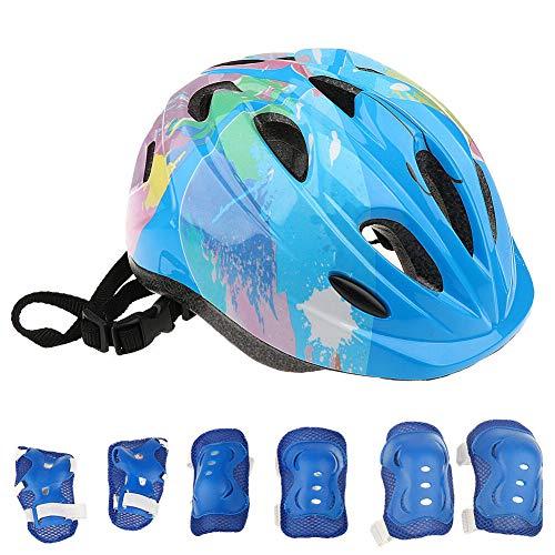 Why Choose YESBAY Kids Helmet, 7Pcs Kid Roller Skating Cycling Bike Protective Helmet Knee Elbow Wri...