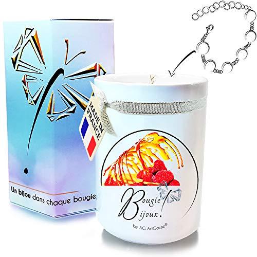 clasificación y comparación AG ArtGosse – Vela de joyería pequeña 170ml – Frambuesa caramelo – Regalo sorpresa con cristal … para casa