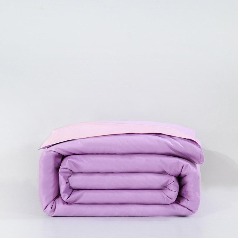 HJYSGSD Couverture de Couette de Couleur Unie 100% Coton Soft Confortable Zip lumière Respirante Durable empêcher l'allergie-F 200x230cm(79x91inch)