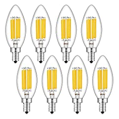 ★ REAL 6 WATT LED BULBS - Using 6-pcs of led filament in each led bulb and large size led chips in filaments, 6 watt actual power with 700 lumens luminous flux, high brightness and low power consumption, E12 candelabra base, AC 110-130V input voltage...