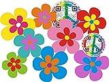 aufgeklebt.de Pegatina Adhesiva, diseño Floral: Mini Flowers 08-Set 5