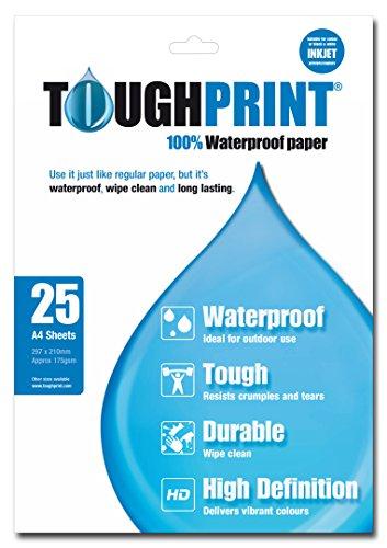 Memory Map Toughprint wasserfestes Papier–25x A4-Blätter, weiß