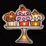 FAVOMOTO Cartel de Neón Café Cupcake Tienda de Panadería LED Neón Luz de Noche Cartel Luces Decorativas de Neón para La Fiesta de La Barra de Café