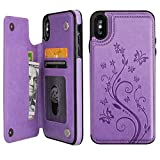 Vaburs iPhone Xs Max Wallet Case with Card Holder, Embossed...