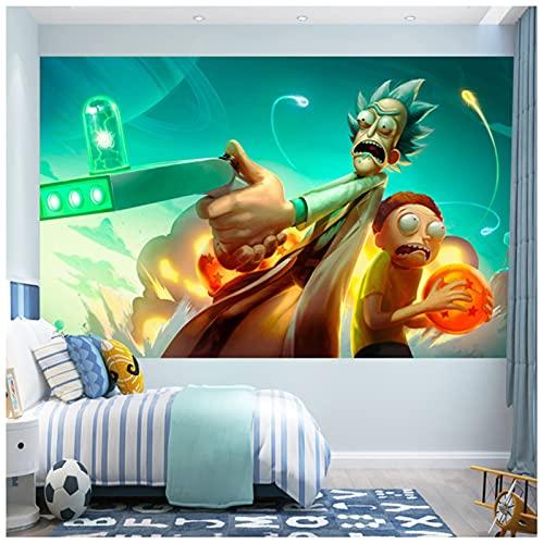 ZHMIAO Tapestry Rick y Morty Wall Dormitorio Colgante, tapices de Pared para la Manta de Dormitorio Decoración para el hogar Colgadores de Baloncesto green-95x75cm