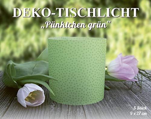 MarpaJansen 486.160-50 decoratief transparant papier stippen groen tafellampen, papier, 9 x 27 cm