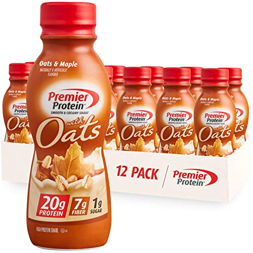 Premier Protein Shake with Oats Oats amp Maple 20g Protein 7g Fiber 1g Sugar 24 Vitamins amp Minerals Smooth amp Creamy Breakfast Drink 115 fl oz 12 Pack