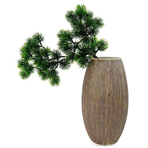 Ironhorse Künstliche Tannenzweige, künstliche Wandbehang Pflanze Bonsai Dekoration Wohnzimmer Garten Ornamente