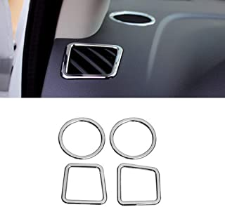 Acouto 2Pcs Front Side Air Vent Outlet Trim Cover Frame for Hyundai Encino Kauai Kona 17-20 SUV Carbon Fiber