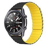 MroTech Compatibile con Huawei Watch GT 2 46 mm/GT 2e/GT2 PRO Cinturino 22 mm Silicone de Ricambio per Samsung Galaxy Watch 3 45mm/Gear S3 Frontier/Galaxy 46mm Bracciale Fibbia Magnetica-Nero/Gia