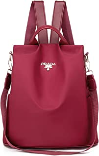 Mochila Oxford Mujer, INTVNMochila Oxford antirrobo Impermeable para Mujer, Colorear Mochila Impermeable para Mujer (Rojo)