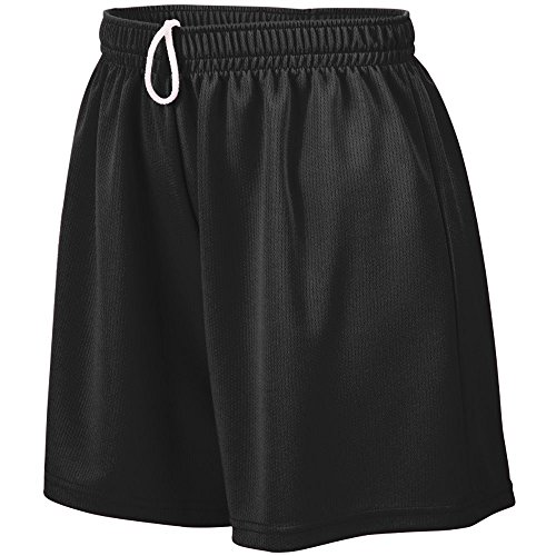 Augusta Sportswear Teen-Girls Wicking Mesh Short, Black, Medium