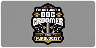 Dog Groomer Dog Grooming Furologist Gift Present Rectangle Non-Slip Rubber Gaming Mouse pad Custom Design Ideal for Desk Cover, Computer Keyboard, PC and Laptop