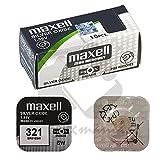 Maxel 321 SR616SW Pila Botón, 1.55V, Oxido Plata, caja con 10 unidades