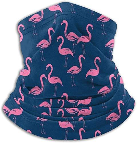 LiGHT-S Fleece Nackenwärmer Gamasche Rosa Flamingos (4) Weiche Mikrofaser Kopfbedeckung Gesicht Schal Maske Für Winter Kaltes Wetter & Warmhalten Für Herren Damen