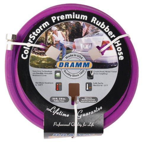 Dramm 17006 ColorStorm Rubber Garden Hose, 5/8' x50', Berry