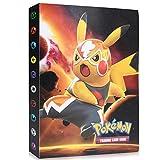 Funmo Álbum de Pokemon, Álbum Titular de Tarjetas Pokémon Pokemon Cards Album Pokemon Trading Cards GX EX Carpeta Libro 30 páginas 240 Tarjetas Capacidad (Pikachu)