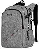 Laptop Backpack, TSA Friendly Business Travel Anti-Theft Laptop Backpack Bag for Womens Mens with USB Charging Port, Durable Water Resistant Collage School 15.6 Inch Computer Rucksack Daypack- Grey